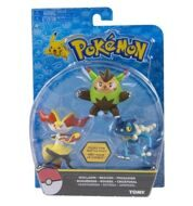 Набор фигурок Pokemon Quilladin & Braixen & Frogadier 3 Pack